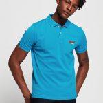 Superdry Mercerised Lite City Polo Turquoise